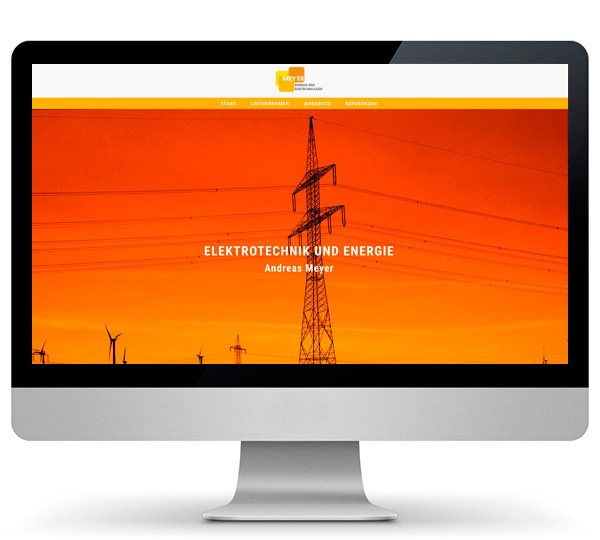 Website Energie und Elektroanlagen Andreas Meyer